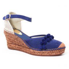 Chaussures femme été 2017 - espadrilles compensées Aedo bleu marine
