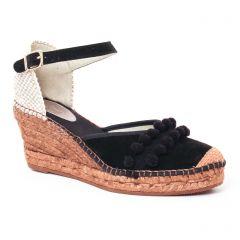 espadrilles-compensees noir: même style de chaussures en ligne pour femmes que les Scarlatine