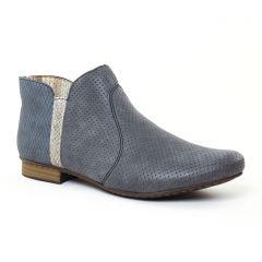 low-boots bleu gris: même style de chaussures en ligne pour femmes que les Tamaris