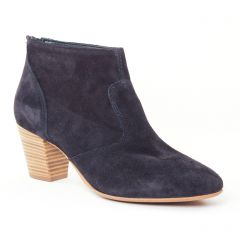Chaussures femme été 2017 - low boots tamaris bleu marine