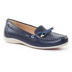 Chaussures femme été 2017 - mocassins confort Geox bleu marine