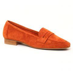 mocassins orange: même style de chaussures en ligne pour femmes que les Scarlatine