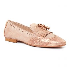 Chaussures femme été 2017 - Mocassins Slippers Maria Jaén beige doré