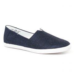 Chaussures femme été 2017 - Mocassins Slippers tamaris bleu marine