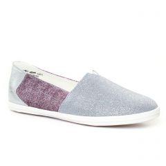Chaussures femme été 2017 - Mocassins Slippers tamaris gris argent