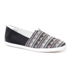 mocassins-slippers noir beige: même style de chaussures en ligne pour femmes que les Tamaris