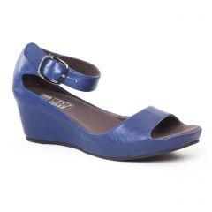 Chaussures femme été 2017 - nu-pieds compensés Mamzelle bleu