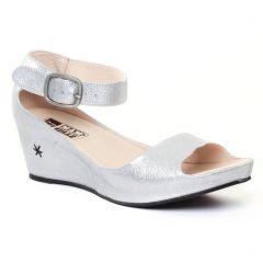 nu-pieds-talons-compenses gris argent: même style de chaussures en ligne pour femmes que les Mamzelle