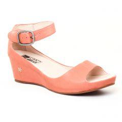 nu-pieds-talons-compenses rose: même style de chaussures en ligne pour femmes que les Jb Martin