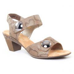 nu-pieds-talon beige: même style de chaussures en ligne pour femmes que les Rieker