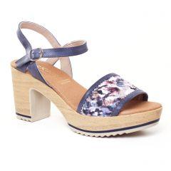 nu-pieds-talon bleu: même style de chaussures en ligne pour femmes que les Dorking