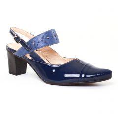 escarpins-trotteur bleu marine: même style de chaussures en ligne pour femmes que les Rieker