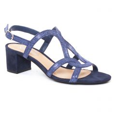 nu-pieds-talon bleu marine: même style de chaussures en ligne pour femmes que les Scarlatine