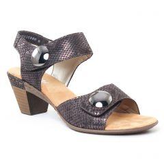 nu-pieds-talon gris noir: même style de chaussures en ligne pour femmes que les Tamaris