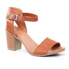 nu-pieds-talon marron: même style de chaussures en ligne pour femmes que les Scarlatine
