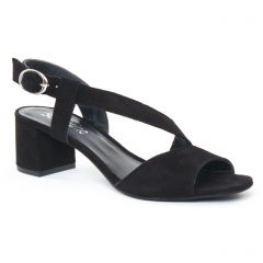 nu-pieds-talon noir: même style de chaussures en ligne pour femmes que les Rieker