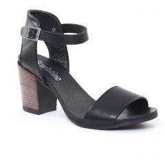Chaussures femme été 2017 - nu-pieds talon Scarlatine noir