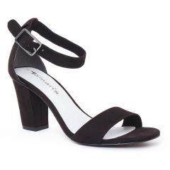 Chaussures femme été 2017 - nu-pieds talon tamaris noir
