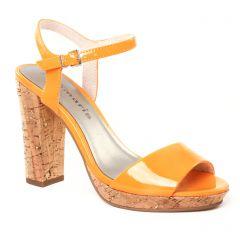 nu-pieds-talon orange: même style de chaussures en ligne pour femmes que les Scarlatine