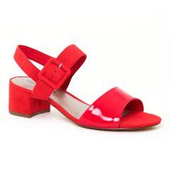 nu-pieds-trotteurs rouge: même style de chaussures en ligne pour femmes que les Jb Martin