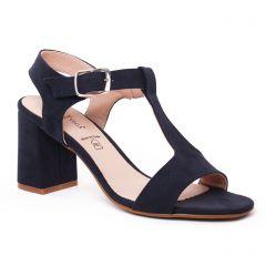 nu-pieds-talons-hauts bleu marine: même style de chaussures en ligne pour femmes que les Caprice