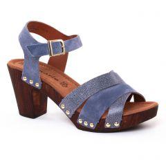 nu-pieds-talons-hauts bleu: même style de chaussures en ligne pour femmes que les Rieker
