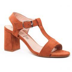 nu-pieds-talons-hauts marron: même style de chaussures en ligne pour femmes que les Jb Martin