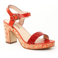 nu-pieds-talons-hauts orange: même style de chaussures en ligne pour femmes que les Tamaris