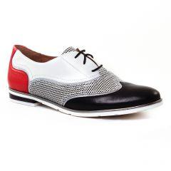 Chaussures femme été 2017 - richelieus Mamzelle blanc rouge