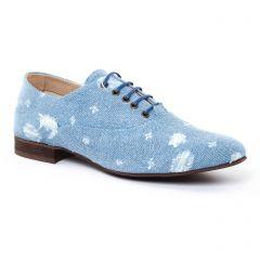 Chaussures femme été 2017 - richelieus Axell bleu blanc