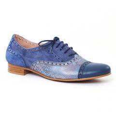 richelieus bleu doré: même style de chaussures en ligne pour femmes que les Scarlatine