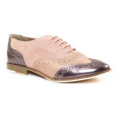 Chaussures femme été 2017 - richelieus marco tozzi rose marron doré