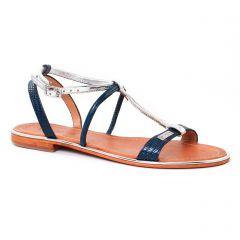 sandales argent bleu: même style de chaussures en ligne pour femmes que les Les Tropéziennes