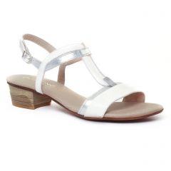 Chaussures femme été 2017 - sandales Dorking blanc argent