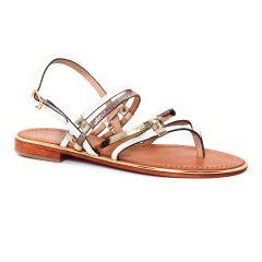 Les Tropéziennes Cumin Blanc Etain : chaussures dans la même tendance femme (sandales blanc argent) et disponibles à la vente en ligne