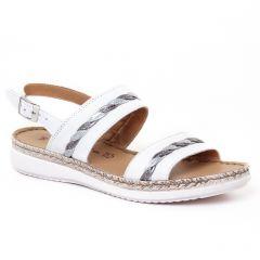 Chaussures femme été 2017 - sandales tamaris blanc argent