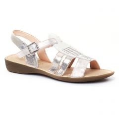 Chaussures femme été 2017 - sandales Dorking blanc doré