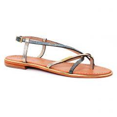 sandales bleu doré: même style de chaussures en ligne pour femmes que les Fugitive