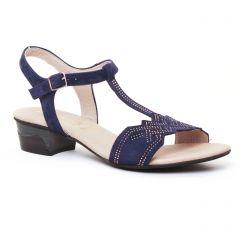Chaussures femme été 2017 - sandales Dorking bleu marine
