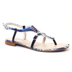 Chaussures femme été 2017 - sandales JB Martin bleu marine