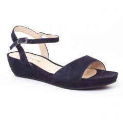sandales-compensees bleu marine: même style de chaussures en ligne pour femmes que les Les Tropéziennes