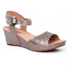Chaussures femme été 2017 - nu-pieds compensés Mamzelle marron doré
