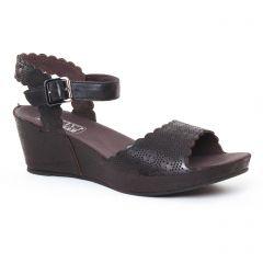Chaussures femme été 2017 - nu-pieds compensés Mamzelle noir