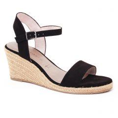 Chaussures femme été 2017 - nu-pieds compensés tamaris noir