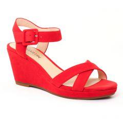 Chaussures femme été 2017 - nu-pieds compensés JB Martin rouge