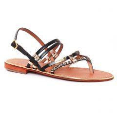 sandales doré noir: même style de chaussures en ligne pour femmes que les Porronet