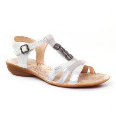 Chaussures femme été 2017 - sandales fugitive gris argent