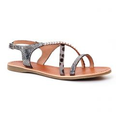 Les Tropéziennes Horse Argent Multi : chaussures dans la même tendance femme (sandales gris argent) et disponibles à la vente en ligne