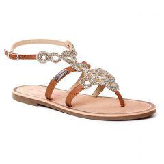 sandales marron argent: même style de chaussures en ligne pour femmes que les Scarlatine