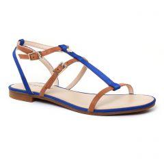 Chaussures femme été 2017 - sandales JB Martin marron bleu
